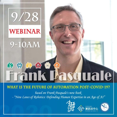 AI & PANDEMICS - Workshop & Lecture Series on Information Law with Frank Pasquale